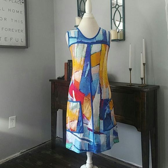 dolcezza Dresses & Skirts - Dolcezza / color sailboat dress / pockets /art